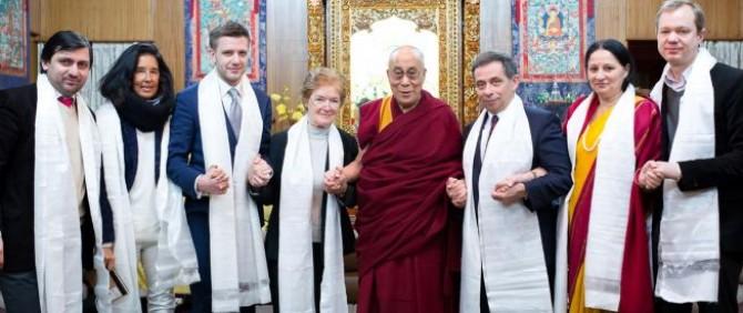 The Dalai Lama met the EESC delegation to Dharamsala
